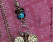 NEW - Timbuktu or BUST.... drop cluster necklace - primitive tribal boho gypsy style original, one of a kind, Not Made in China