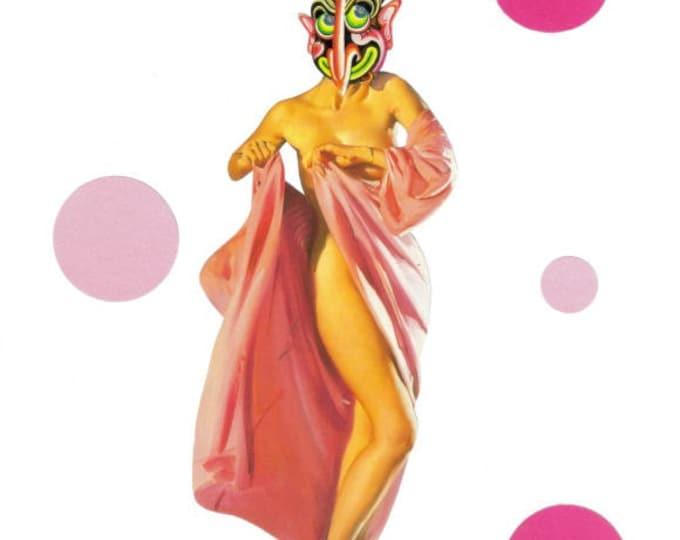 Lowbrow Burlesque Art, Sexy Rockabilly Artwork, Retro Pinup Collage