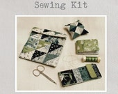 """Sewing Kit Sewing Pattern - A charming pattern featuring four mini projects all made from a single 2.5"""" mini charm pack"""