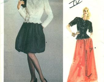 Vogue 2073 ALBERT NIPON American Designer Cocktail Top Skirt Size 12 Bust 34 ©1988