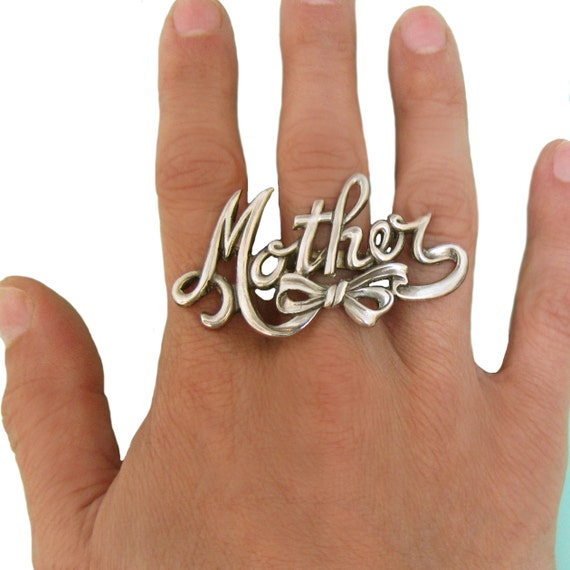 MOTHER RING Mothers Day mom silver gold sterling jewelry