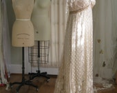 Elegant Beaded Champagne Evening Gown