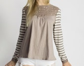 Lace Charm Top in Beige