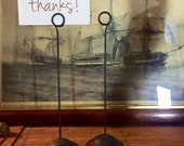 Victorian Iron Sign Holders - Victorian shop displays -  molded iron - vintage picture displays - table number stands - vintage wedding