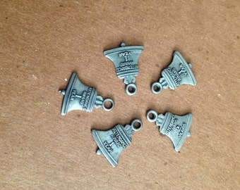 Sterling Attendance Award Bell Charms/Pendants Set of 5