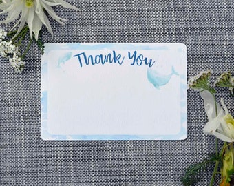 Printable Whale Thank You Note