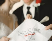 Dad Wedding Gift Dad Gift Embroidered Wedding Handkerchief Personalized Dad Wedding Gifts form Bride Handkerchiefs for dad Canyon Embroidery