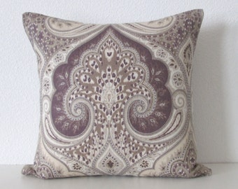 ethan allen anjali lilac latika orchid medallion linen purple decorative pillow cover accent pillow