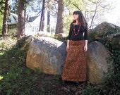 1960s paisley Maxi Skirt velvet long skirt 60s maxi skirt JOSEPH MAGNIN