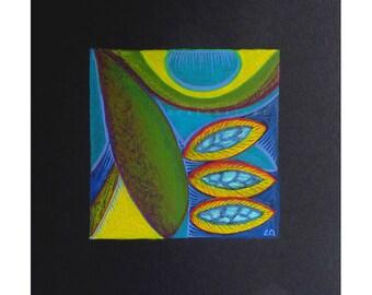 Mixed media art, original fine art painting, modern wall art, contemporary art