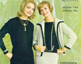 COLUMBIA MINERVA Book 743 Knitting Dresses Sweaters Coats Suits