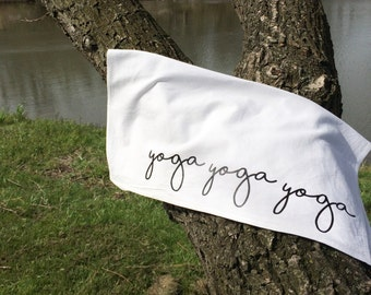 Yoga Towel Gym Towel Workout Towel Hand Towel Personal Towel Namaste Yoga Gift