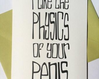 Penis Physics - Blank Card
