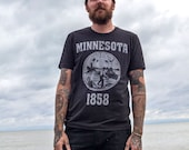 Minnesota State Seal T-Shirt. Vintage Style Soft Unisex Men's Slim Fit and Women's Tee