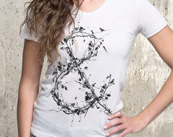 Women's Tri-Blend T-Shirt - Tree Branch Ampersand - American Apparel Women's TriBlend - Women's Small Through XL Available