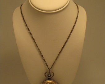 Victorian inspired pocket watch necklace