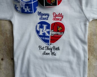Heart house divided shirt- Can customize to any team