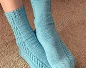 Sock Knitting PATTERN PDF, Knitted Socks Pattern - Sunday Morning Socks