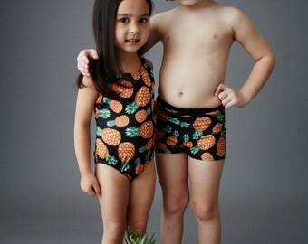 PINEAPPLE: Girl's Tank Swimsuit