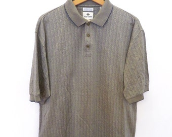 LONE CYPRES Pebble Beach vintage polo shirt unique print size L - XL