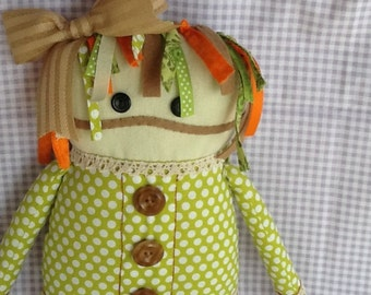 OOAK Handmade Doll Cute Ugly Rag Doll Primitive Doll