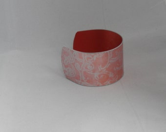 Cuff Bracelet/Bangle - Annodised aluminium print