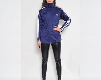 Vintage 90's Adidas Zipper Jacket / Blue Zipper Adidas Jacket - Size Medium