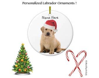 Yellow Lab Ornament - Yellow Lab Art 4 - Labrador Retriever Pet Lover Keepsake - Labrador Personalized Christmas Ornament - Lab Christmas
