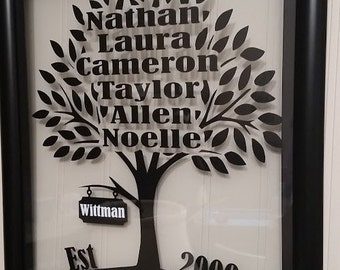 Family Tree Floating Frame- personalized