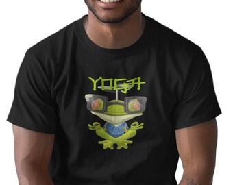 YOGA FROG Men's YOGA Meditation Black T-Shirt