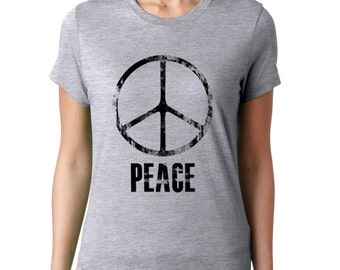 Peace T-Shirt, Womens T shirt, Peace Tee Shirt