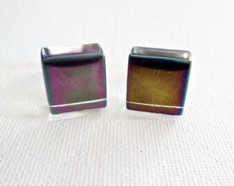 Mosaic Glass Tile Cufflinks Cuff Links Wedding Groom Gifts Groomsmen Gift