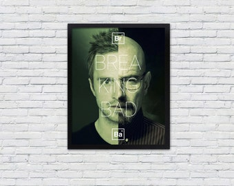 Breaking Bad Poster / Walter White and Jesse Pinkman Print