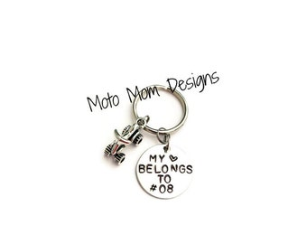 Motocross Personalized Keychain - Motocross Keychain - Motocross - Dirt Bike Keychain - Custom Keychain - Racing - Motocross Gift - Quad