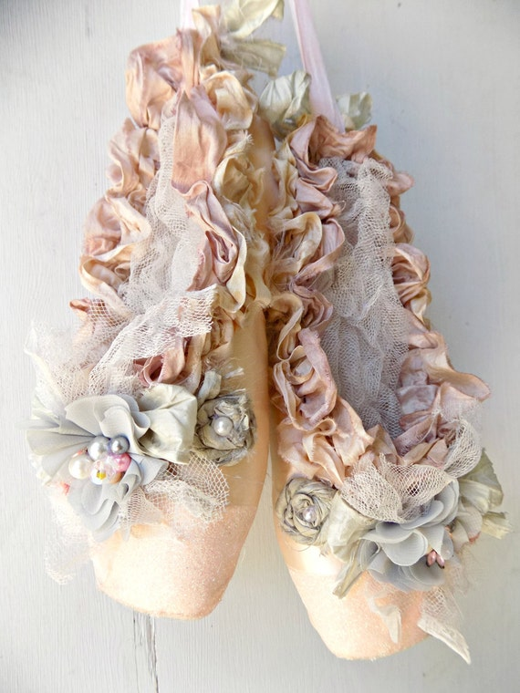 French Shabby Chic Ballet Shoes Home Decor Ballet Pointe
