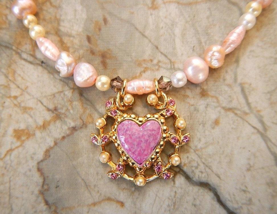 Mis 15 Anos Bracelet: Teen Jewelry Pink Heart Pendant Sweet Sixteen Necklace Quince