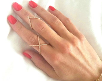X Ring - Cross Cross Ring - Criss Cross Rings - Gold X Ring - Silver Ring - Gold Ring - Minimalist Ring - Christmas Gift - Mother Ring