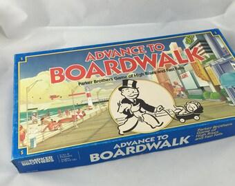 Vintage Board Game Advance To Boardwalk 1985