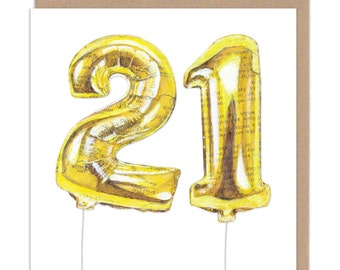 21 Balloon - Birthday Card