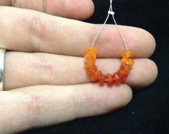Shaded carnelian beads