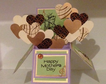 Mothers Day Pop Up Card Box