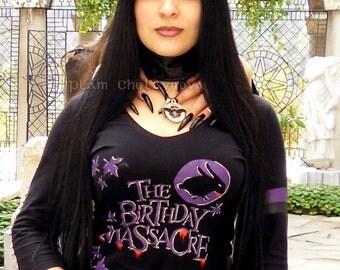 THE BIRTHDAY MASSACRE Hand Painted T-Shirt