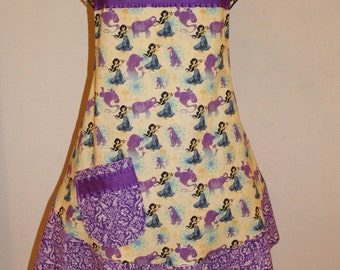 Women's Large Disney, Aladdin, Jasmine Purple Apron