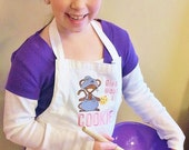 Personalized Childs Apron and Chef Hat, Give a Mouse a Cookie