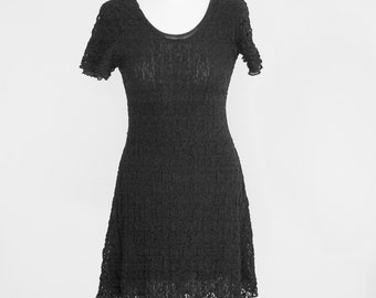 Little black dress / mini dress / black dress / lace dress / boho chic / retro dress / dress gothic
