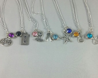 Backstage Disney / Family Channel Inspired Mini Jewel and Charm Character Necklaces - Many Options, Main Cast
