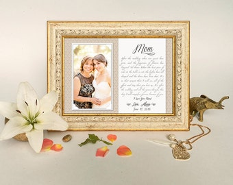 Mother of the Bride Frame - Personalized frame, Unique wedding gift, Mothers day gift, Mom Wedding Frame, Mother of the groom