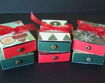 Christmas Treat Boxes - Christmas Gift Boxes - Christmas Party Favor Boxes - Chocolate Truffle Boxes SET of 6