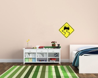 Transportation Decals - Road Signs - Highway Sign - Traffic Signs - Transportation Party - Street Sign - Transportation Nursery - Kids Decal