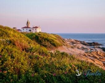 Beavertail Lighthouse ~ Beavertail State Park, Jamestown, Rhode Island, Lighthouse, New England, Ocean, Coastal, Seascape, Art, Photograph